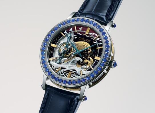 精工推出三维立体雕刻漆艺的陀飞轮腕表