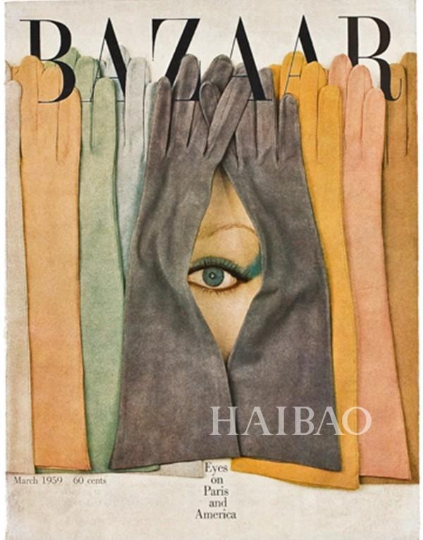 《Harper's Bazaar》1959年3月刊封面