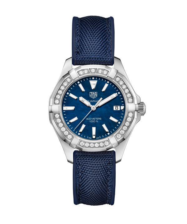 泰格豪雅全新Aquaracer竞潜女士300米精钢腕表