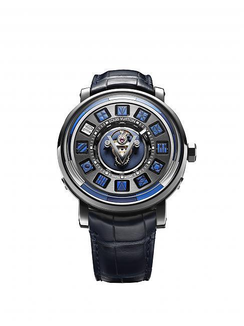 路易威登 Escale蓝色时光飞旋陀飞轮腕表;LOUIS VUITTON;路易威登