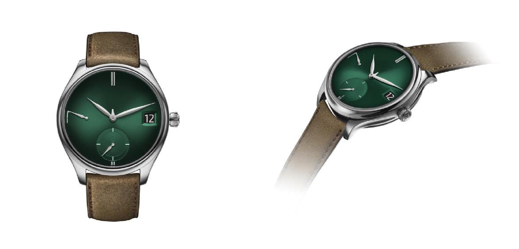 简洁、惊艳、低调、纯正:H.MOSER&CIE.亨利慕时勇创者万年历 PURITY宇宙绿腕表