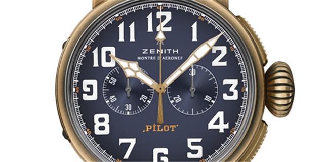 ZENITH真力时飞行员系列TYPE 20特别版青铜计时码表